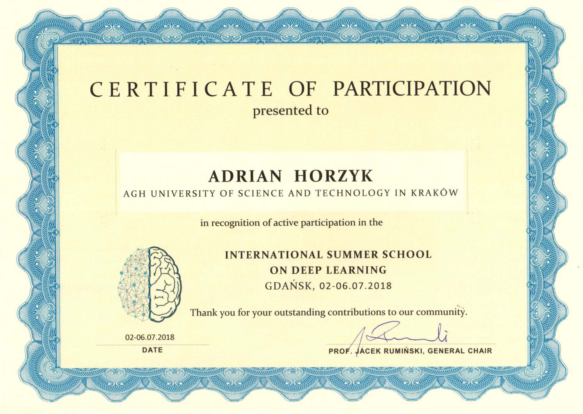 Adrian Horzyk - Artificial Intelligence and Machine Learning