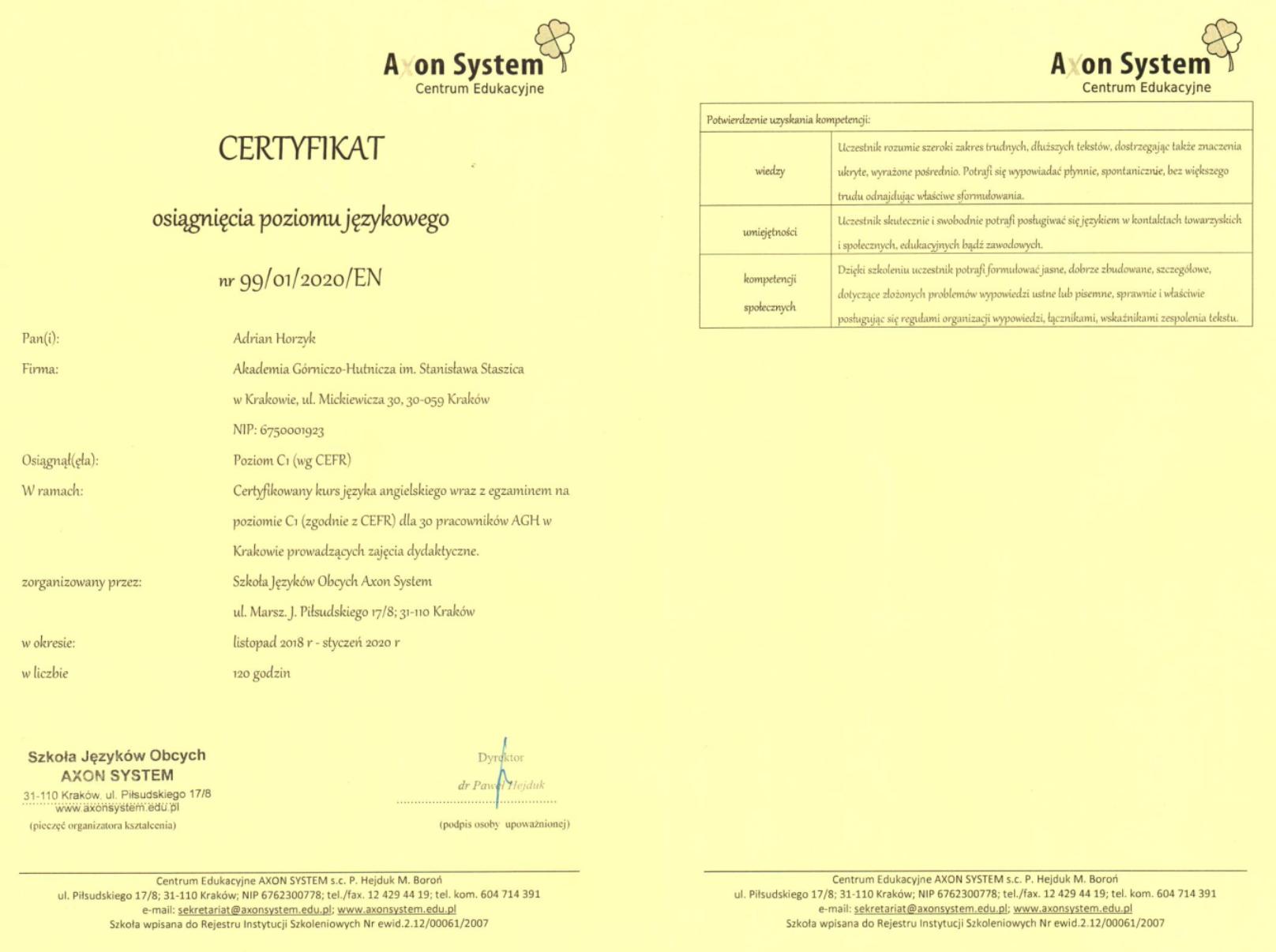 2020-01-adrianhorzyk-axon-angielski-poziomc1-certyfikat (800 kB)